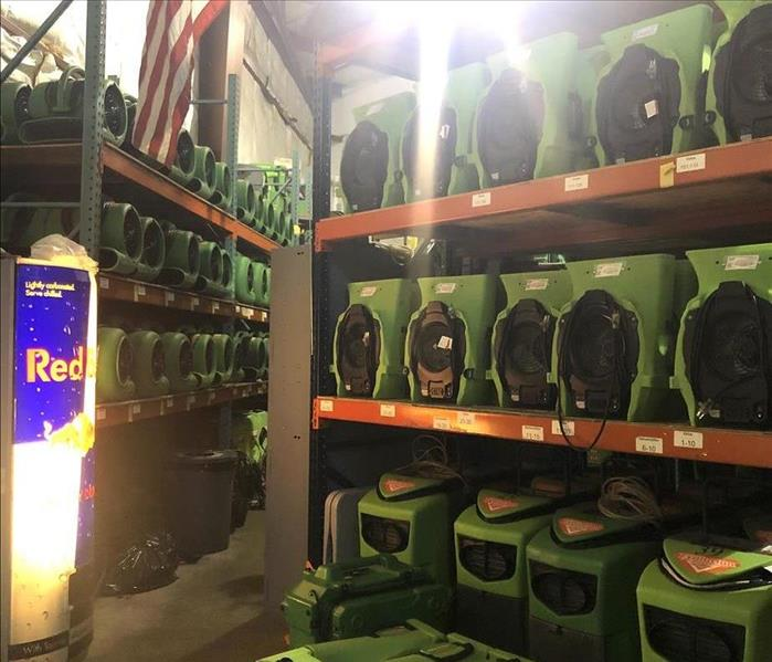 stocked airmovers on shelves
